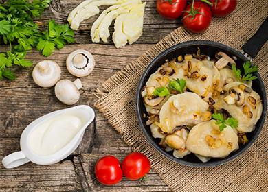 Тесто на вареники с картошкой на воде 🥝 сколько варить, как приготовить с картофелем и шампиньонами