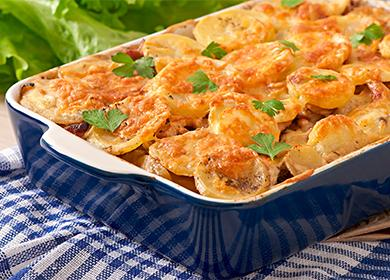 Курица по-французски рецепт 🥝 с картофелем и помидорами