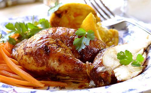 Курица с апельсинами в духовке: фаршированная, жаркое из бедрышек, крыльев, филе