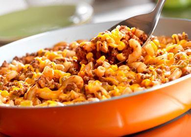 Запеканка из макарон с мясом в духовке 🥝 мясной макаронник с сыром и вермишелью