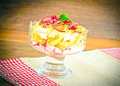 Рецепт салата «Красное море»: 5вариантов приготовления праздничного блюда