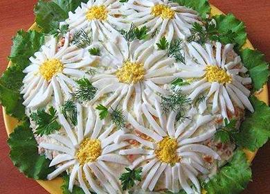 Салат «Ромашка»: «цветочное» поле для экспериментов новичков и опытных кулинаров