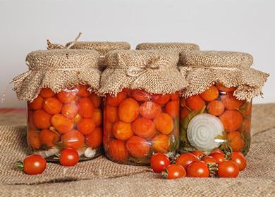 Рецепты помидоров черри на зиму: варианты медовых, сладких, острых и пикантных заготовок