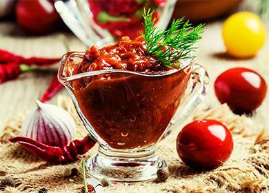 Аджика изсливы: классический рецепт закуски для мясных иовощных блюд