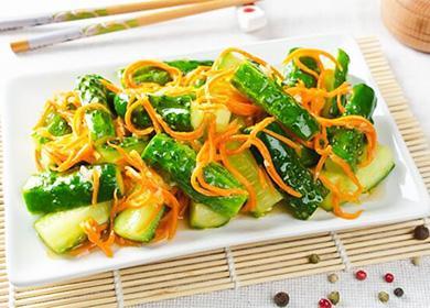 Огурцы по-корейски (быстрого приготовления ивпрок): рецепты совощами имясом