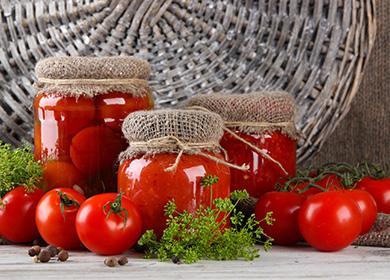 Красивые банки с помидорами