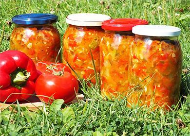 Салат «Дунайский» назиму сзелеными икрасными помидорами: способы закатать витаминную закуску и«ленивый ужин»