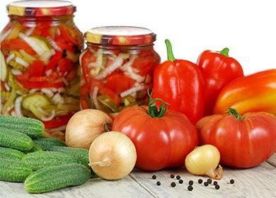 Рецепты салата изпомидоров иогурцов назиму: адаптация летнего блюда кхолодному сезону