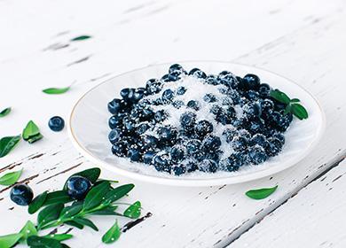 Протертая черника ссахаром ибез: 5рецептов полезного десерта назиму