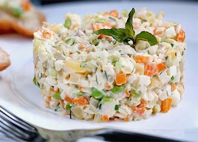 Салат оливье вегитарианский