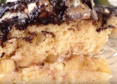 Нежный и вкусный банановый торт по рецепту с фото