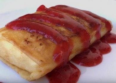 Вкуснейшие блины с творогом: пошаговый рецепт с фото!