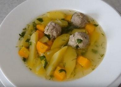 Ароматный и легкий суп с фрикадельками и вермишелью: пошаговый рецепт с фото.