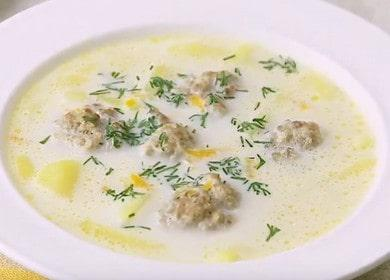 Готовим сырный суп с фрикадельками по пошаговому рецепт с фото!