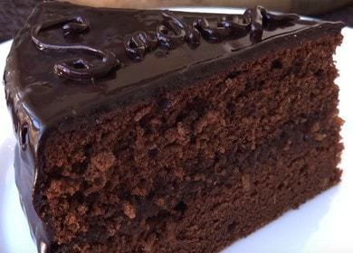 Шоколадный торт Захер — классический рецепт с фото пошагово