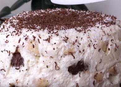 Торт из пряников без выпечки — очень нежный, похож на сметанник