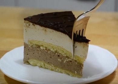 Торт Птичье молоко с желатином — очень похож на классический рецепт по ГОСТу