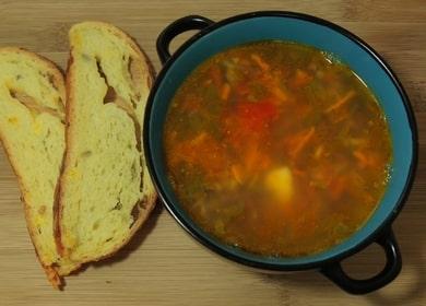 Фасолевый суп из красной фасоли — вкусный вегетарианский рецепт