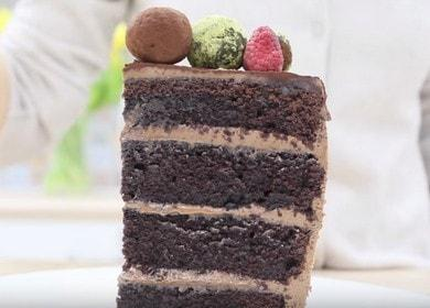 Самый вкусный шоколадный бисквитный торт: пошаговый рецепт с фото.
