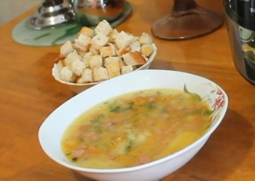 Вкусный и сытный гороховый суп в мультиварке: рецепт с пошаговыми фото.