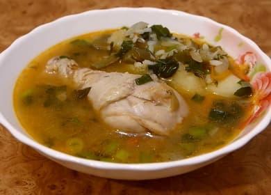 Как приготовить куриный суп с рисом