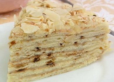 Узнайте как приготовить торт наполеон на сковороде