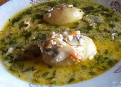 Сырный суп с грибами по пошаговому рецепту с фото