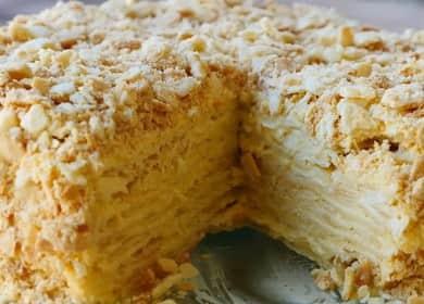 Торт Наполеон с заварным кремом по пошаговому рецепту с фото