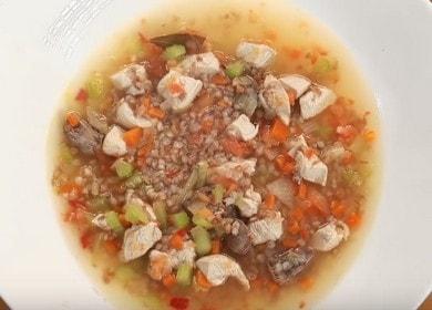 Готовим необычный гречневый суп с курицей по рецепту с пошаговыми фото.