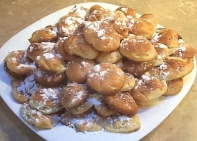 Заварное печенье в пудре — недорогой и вкусный вариант к чаю