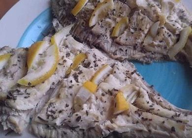 Ароматная камбала в духовке: рецепт с пошаговыми фото и видео.