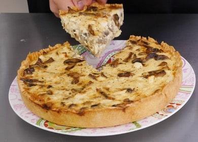 Готовим ароматный киш с курицей и грибами по рецепту с пошаговыми фото.