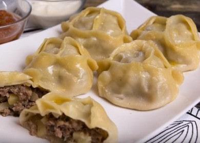 Манты с картошкой и фаршем — легкий рецепт, вкусный результат