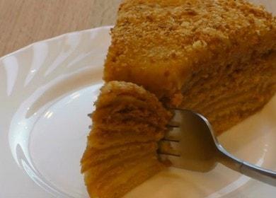 Медовик с заварным кремом — самый вкусный и любимый торт