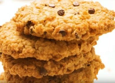 Овсяное печенье с шоколадом — очень вкусное и хрустящее