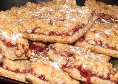Готовим вкусное песочное печенье с вареньем и крошкой по рецепту с фото.
