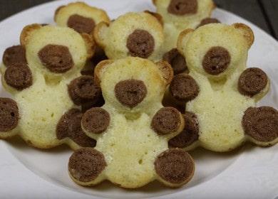 Бисквитное печенье «Барни» в формочках в духовке