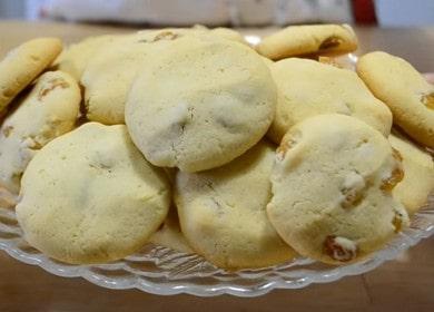 Готовим простое и вкусное печенье с изюмом по рецепту с фото.