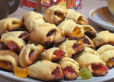 Печенье Рогалики с мармеладом — рецепт на маргарине