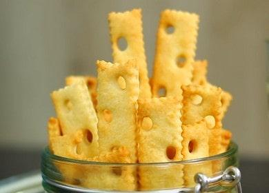 Супер быстрое печенье с сыром — сырные палочки в духовке