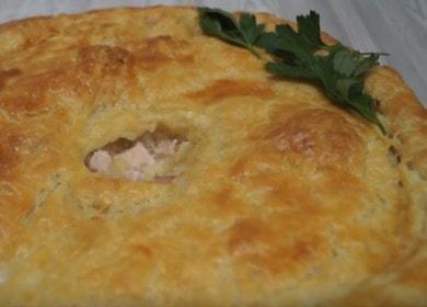 Пирог из слоеного теста с курицей — потрясающе вкусно