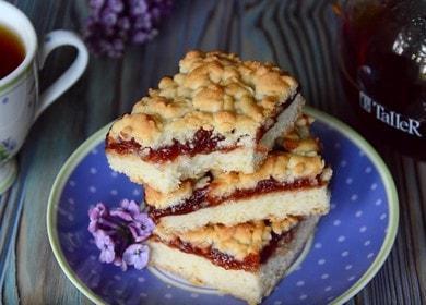 Готовим вкуснейший пирог крошка с вареньем по рецепту с фото.