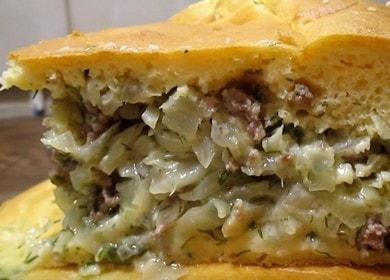 Вкусный и простой заливной пирог с капустой и мясом: готовим по рецепту с фото.