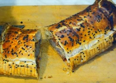 Слоеный пирог с фаршем — очень простой и вкусный рецепт