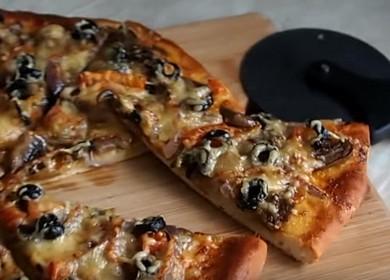 Как научиться готовить вкусную пиццу с шампиньонами