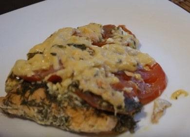 Рецепт семги с помидорами и сыром, запеченной в фольге в духовке