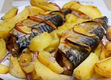 Рецепт вкусной скумбрии с картошкой, запеченной в духовке