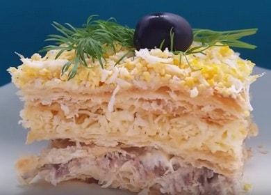 Слоеный пирог с рыбой — вкусная и сытная закуска