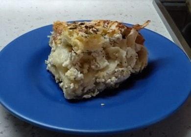 Слоеный пирог с творогом — вкусный, низкокалорийный и быстрый в приготовлении
