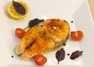 Стейк из лосося, запеченный в духовке — простой и вкусный рецепт